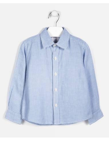Camisa ZARA KIDS manga larga azul 2-3...