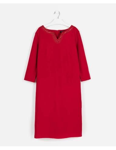 Vestido ANTEA rojo strass talla 38